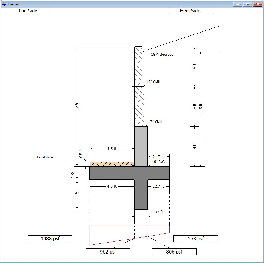 Wall Footing Design Xls : Cantilever retaining wall software soilstructure
