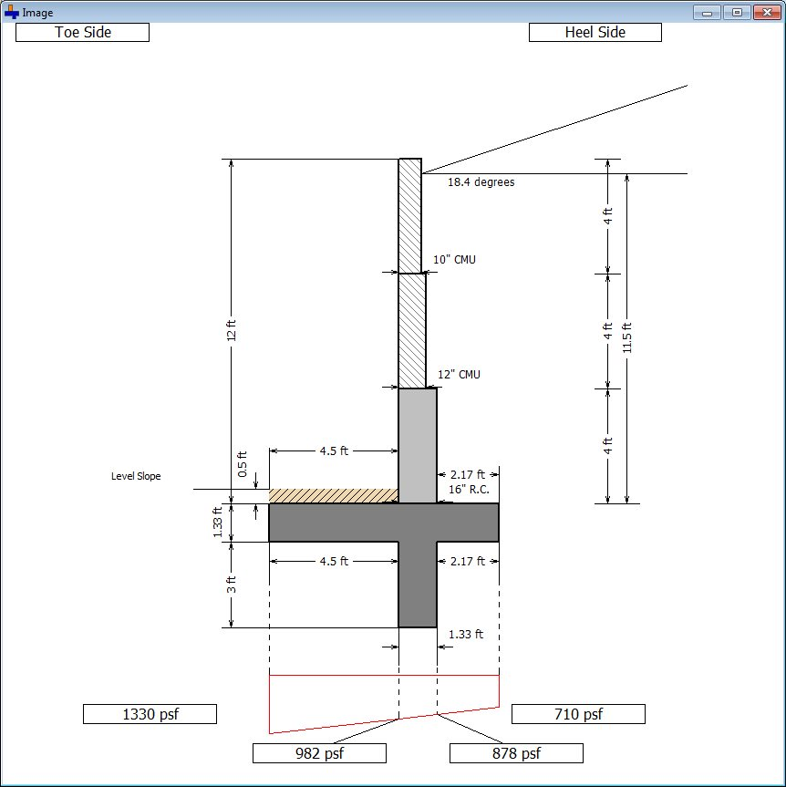 Cantilever Retaining Wall Screenshot 4