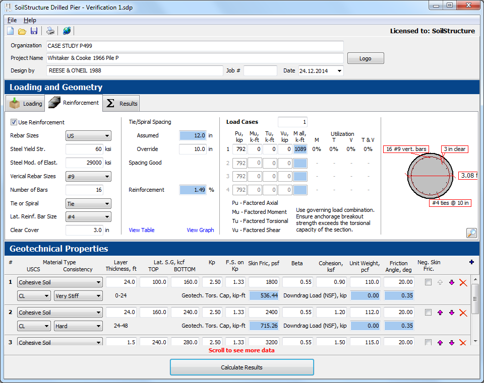 Drilled Pier (Bored Pile) Software - SoilStructure Software