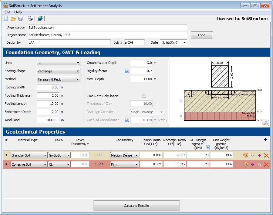 Settlement Analysis Software - SoilStructure Software